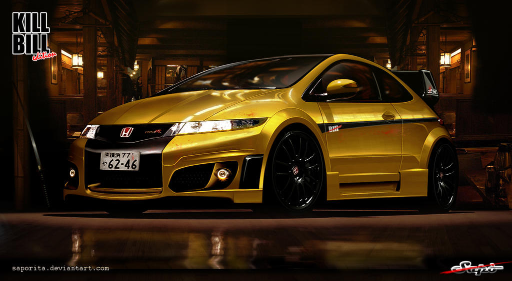 Honda Civic-Kill Bill Edition by Saporita
