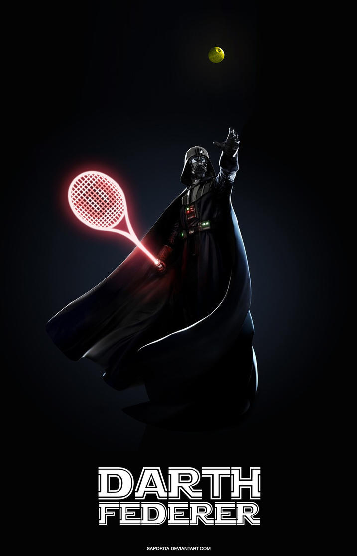DARTH FEDERER by Saporita
