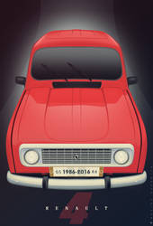 Renault 4 Vector by Saporita