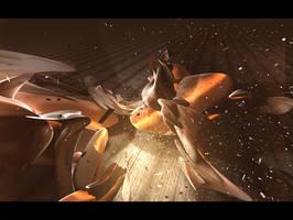 Meteor, or Alien spaceship. by Tehblade