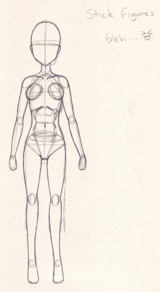Crappy Anatomy Stick Figure By Angelkitty17 On Deviantart
