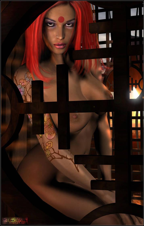 Occidental Geisha by supermarioART