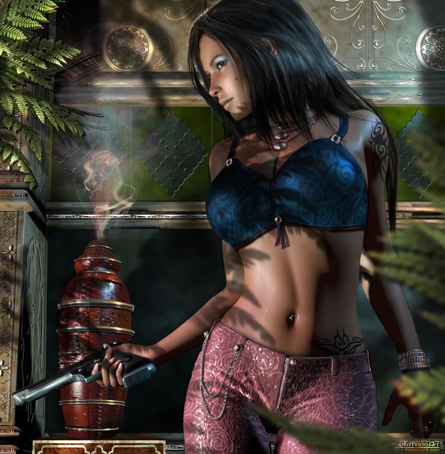 Ebony Spygirl by supermarioART