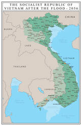 Vietnam After 7 Meters of Sea Level Rise by Charles-Porter