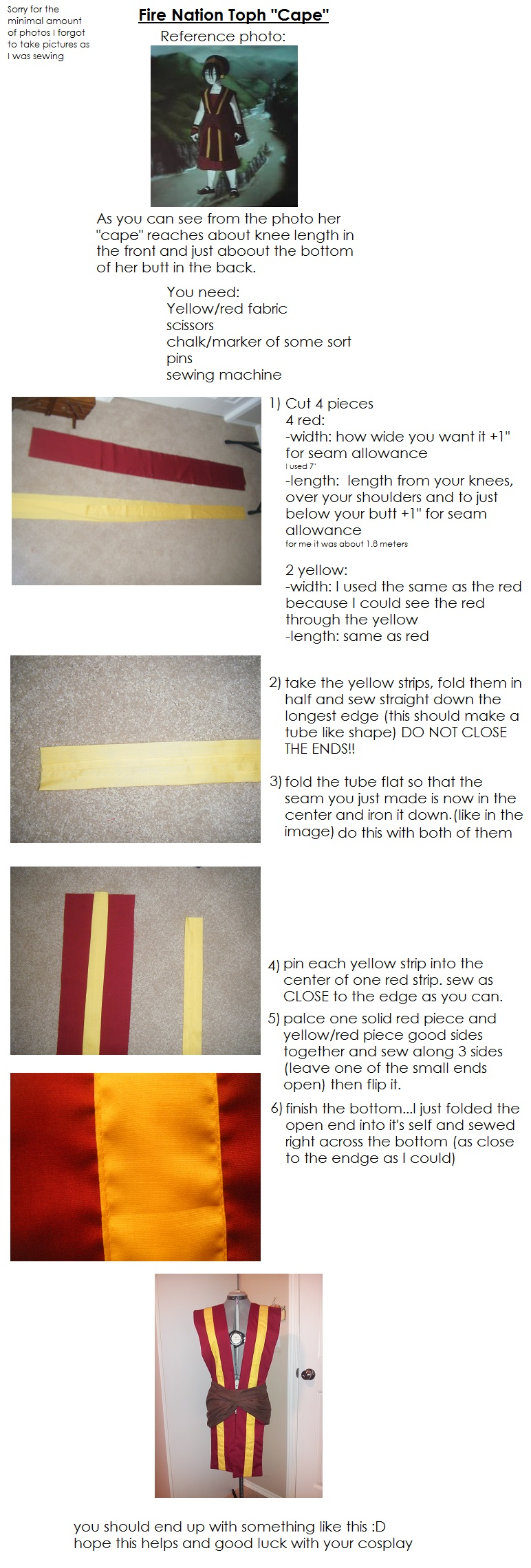 Fire Nation Toph Cape - Tutorial