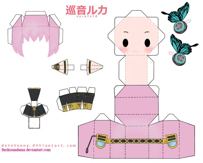 Papercraft Megurine Luki By Furikisundama