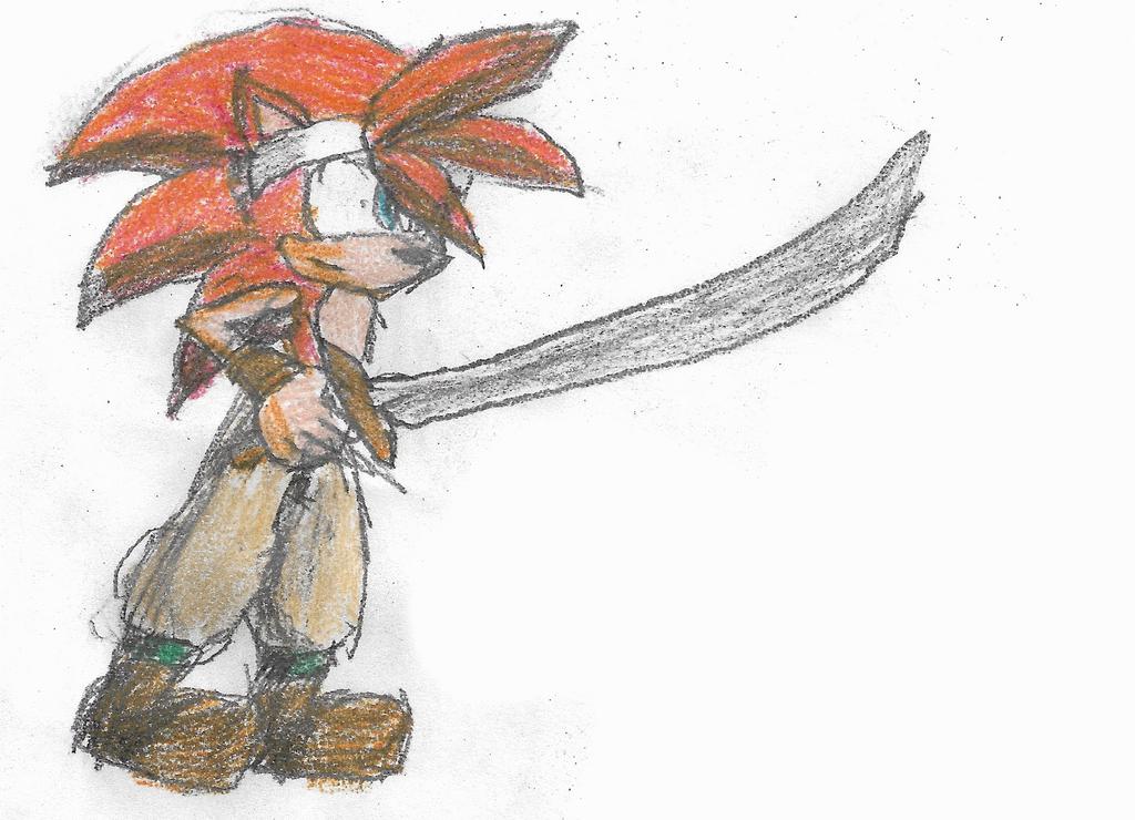 Chrono Trigger Mobius - Crono the Hedgehog by Gamma-V