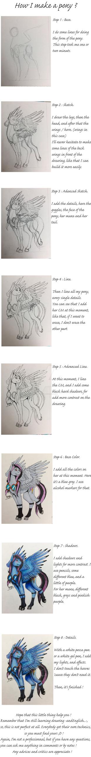 How I make a pony - Step by Step - Alpha Jet by Drago-Draw