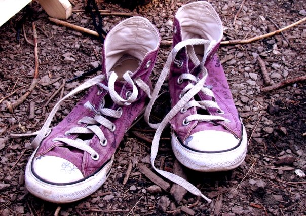 Worn Out Chuck Taylors by MihaiGrigorescu