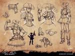 Steampunk Cowgirl studies