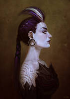 Portrait of Dark Princess by viko-br