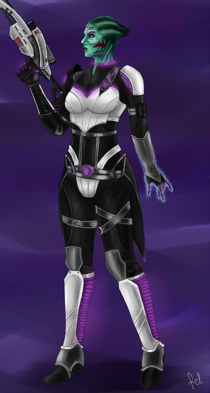 ME: Wraith armor concept by Felinna