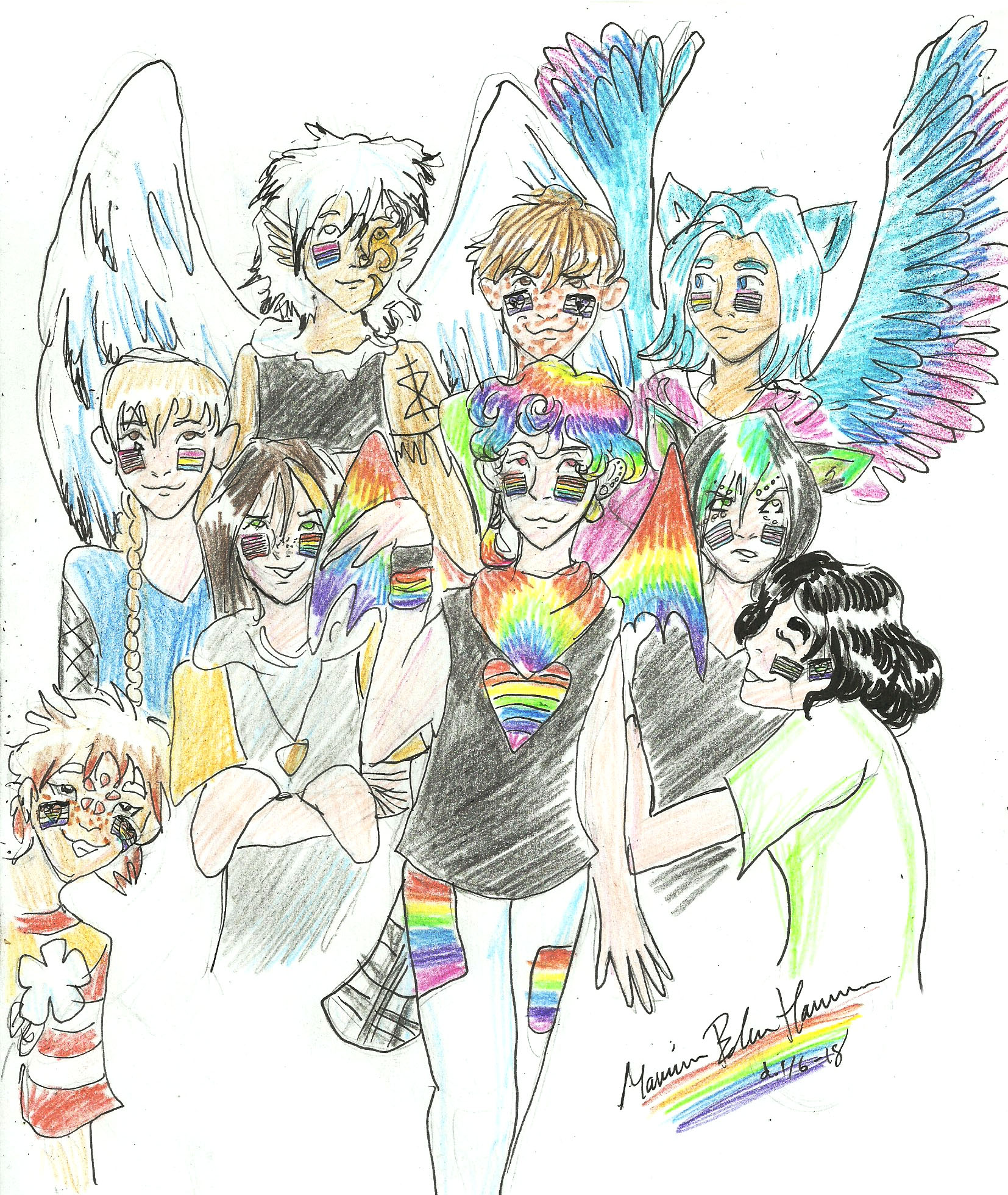 Welcome to pride month (Lgbt OCs)