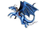 Flight of Destiny (Eragon) by thebadgerfoxdraws