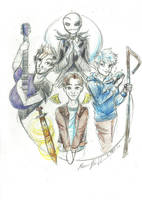 A band of Jacks (ATL/SPN/NBC/RotG/Magnus Chase) by thebadgerfoxdraws