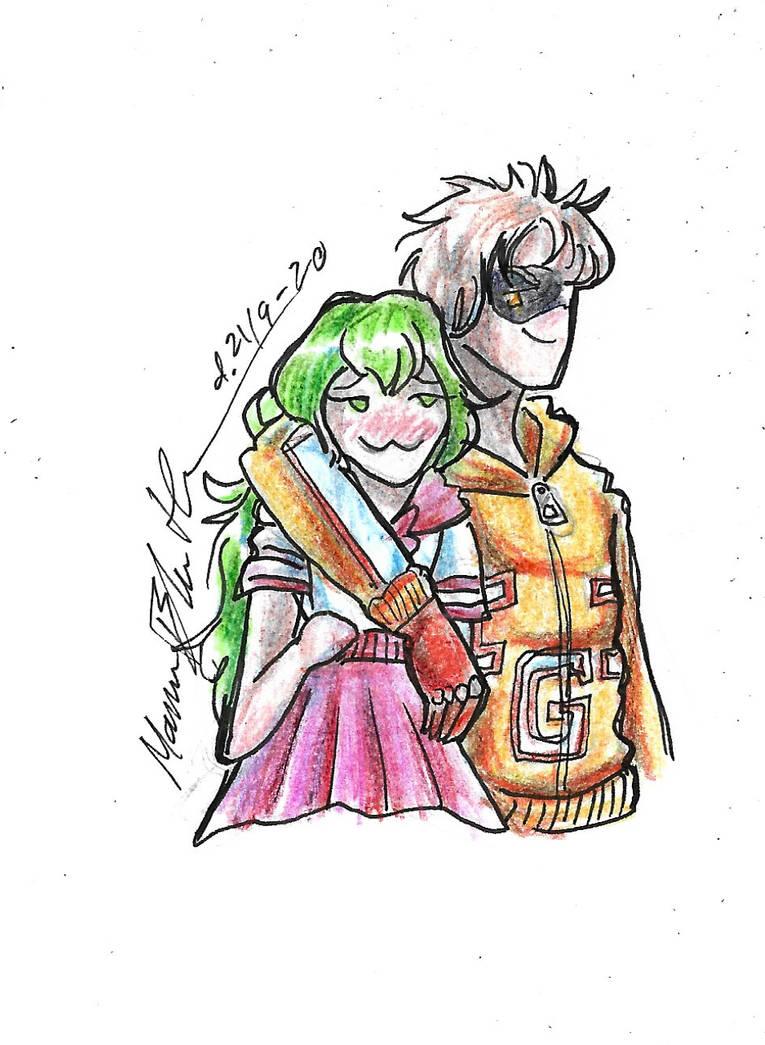 Komoru and Toyomitsu (commission)
