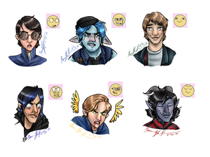 More silly emotions (diverse fanart)