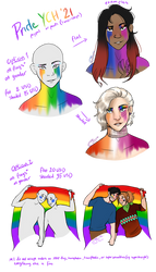 CLOSED Pride YCHs 2021
