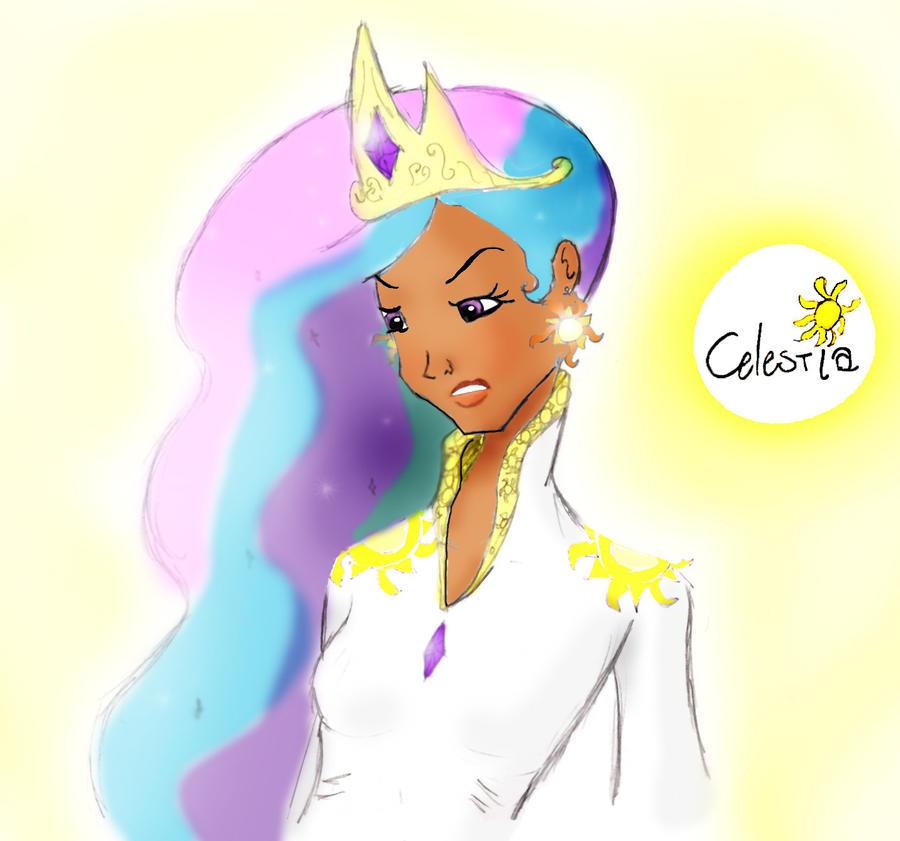 Princess Celestia by theghostlyartist