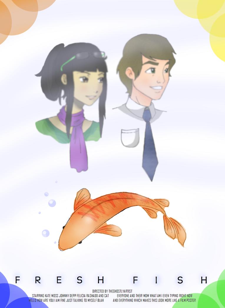 Character Design Internships Nyc : Fresh fish sashimi movie poster by theghostlyartist on