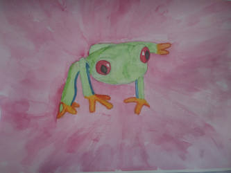 Red-Eye Tree Frog by iamanimegirl12