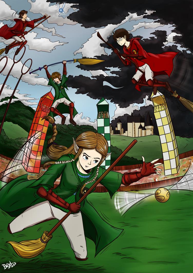 Fan Art Mashup Challenge - Zelda Harry Potter by Bejul
