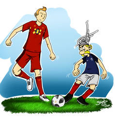 France-Belgium World Cup 2018 - Asterix and Tintin