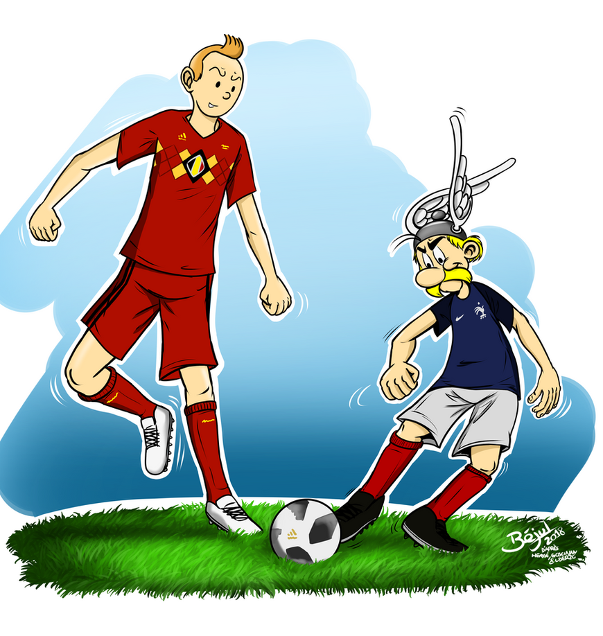 France-Belgium World Cup 2018 - Asterix and Tintin by Bejul