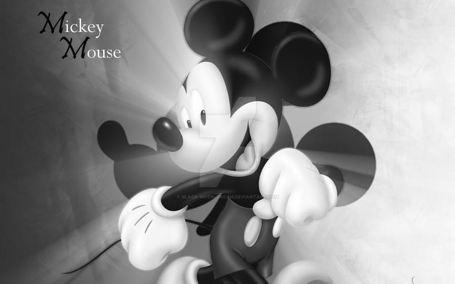 Mickey Mouse Wallpaper B W By Black Moon Dream