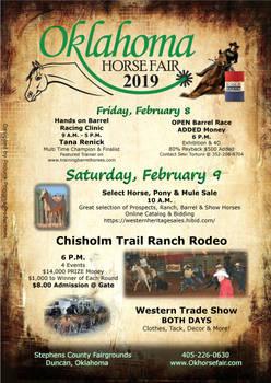 2019 Oklahoma Horse Fair flyer