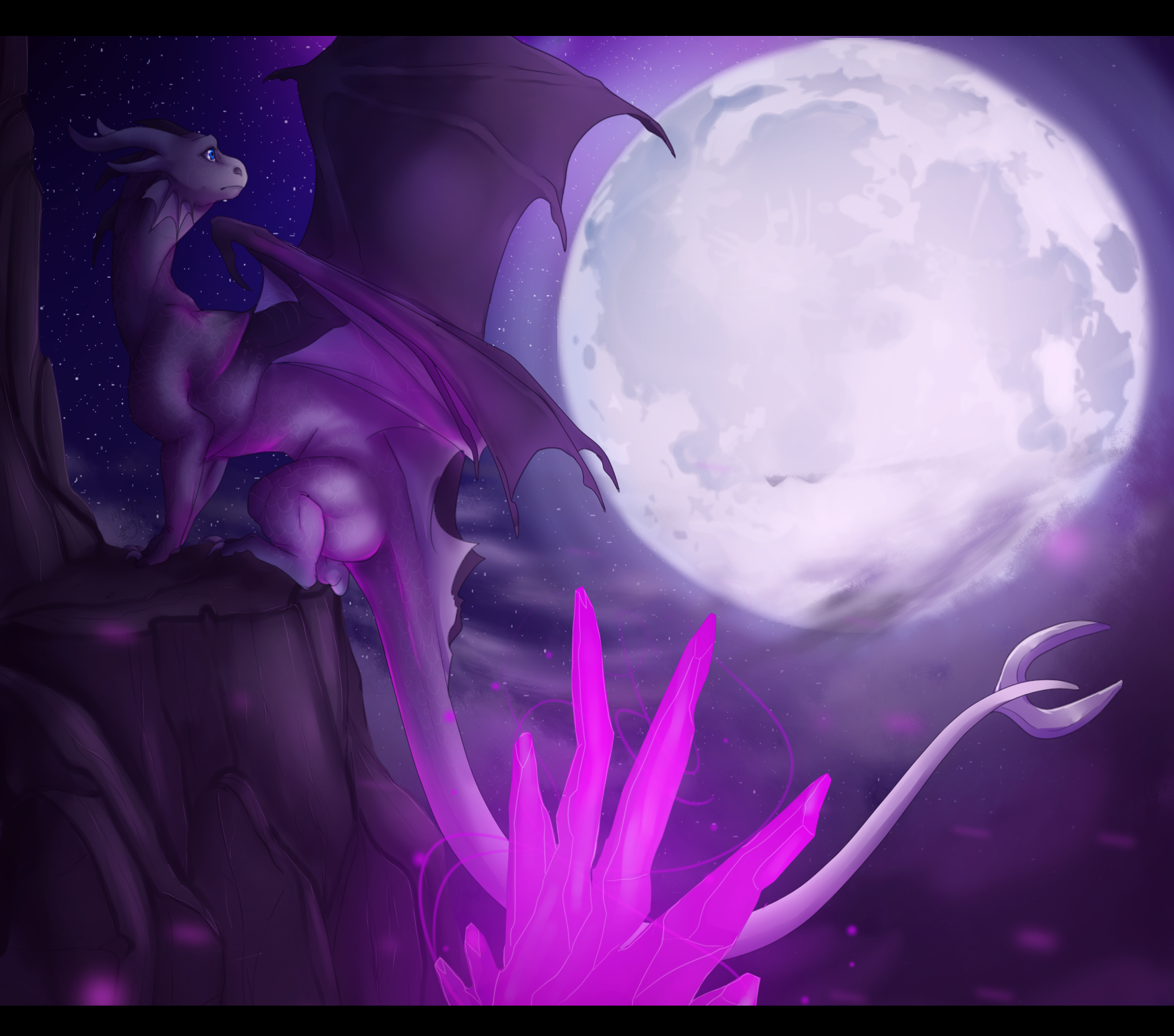 Where the moonlight can reach - REMASTERED by DendouguiDragonPowah