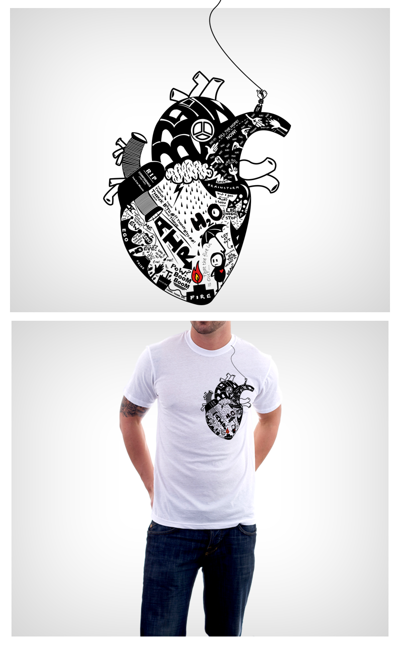 Fire in your heart -On Tee by Jammyy