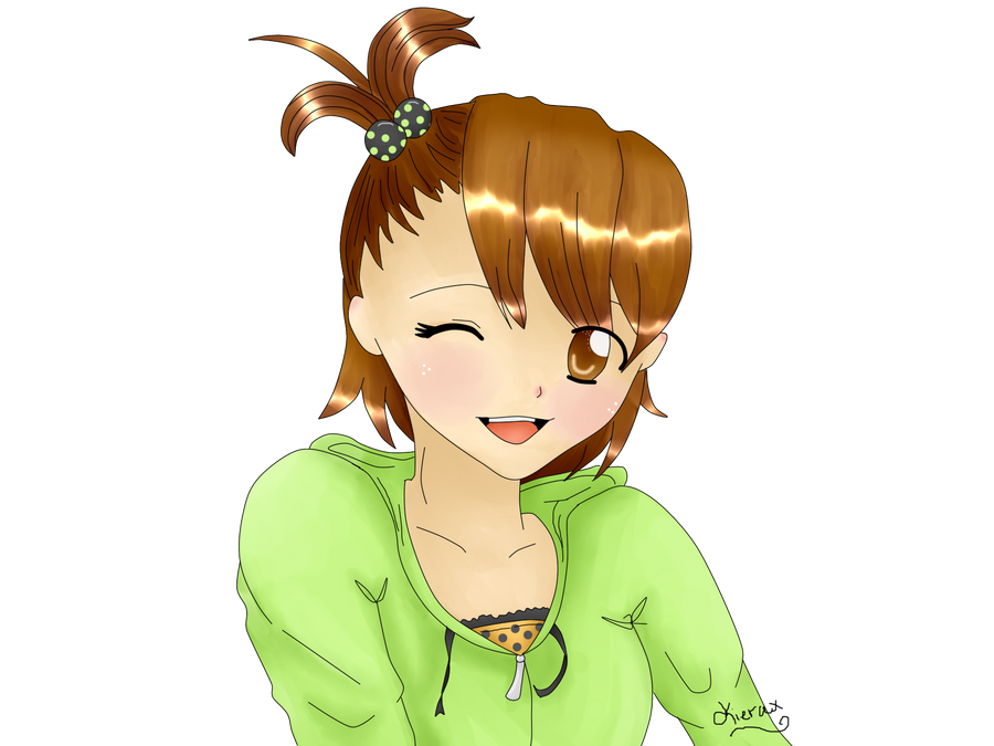 Commission: Chibi Miki -Cute Wink- by CielBot on DeviantArt