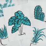 Watercolour plants