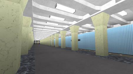 Varshavskaya station on ROBLOX (Completed)