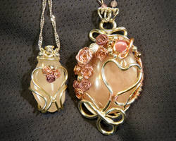 Mother Daughter Pendants by a-kid-at-heart
