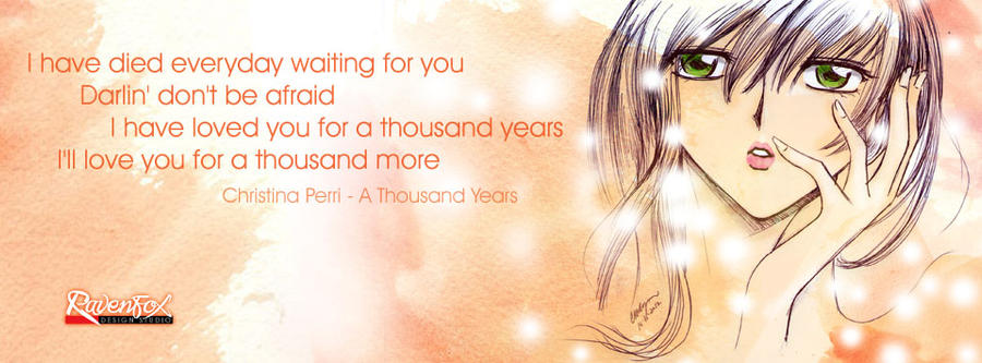 A thousand years fb cover by Artist-ian on DeviantArt