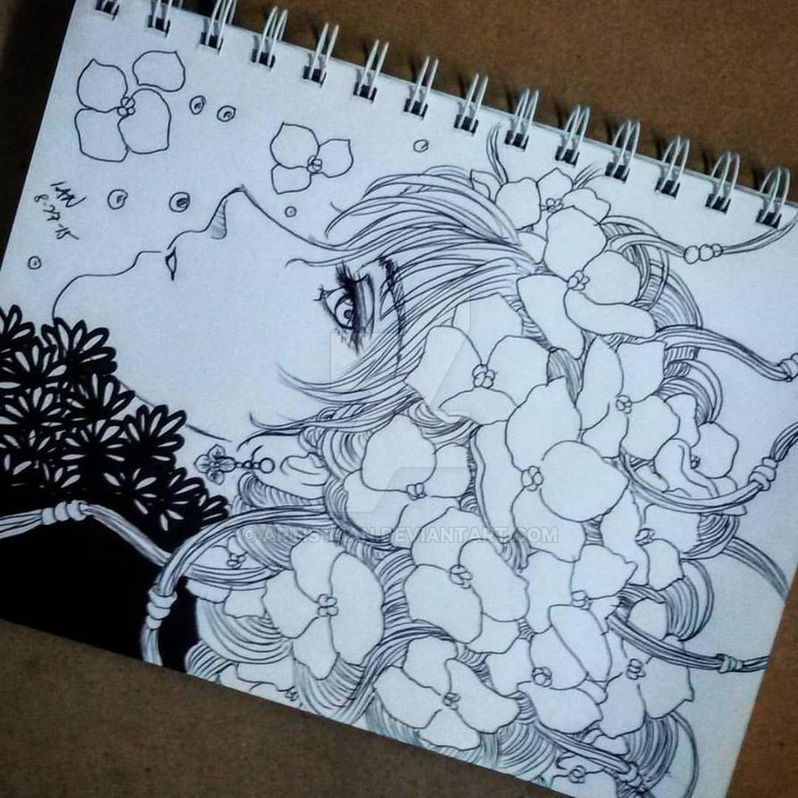 Hydrangeas of my entangled memories by Artist-ian