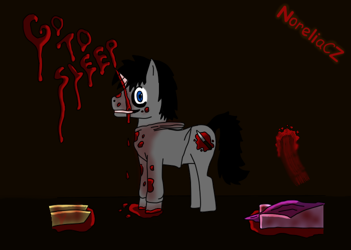 Jeff The Killer MLP by NoreliaCZ