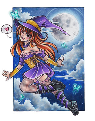 Witch chick 7 years later by Flos-Abysmi