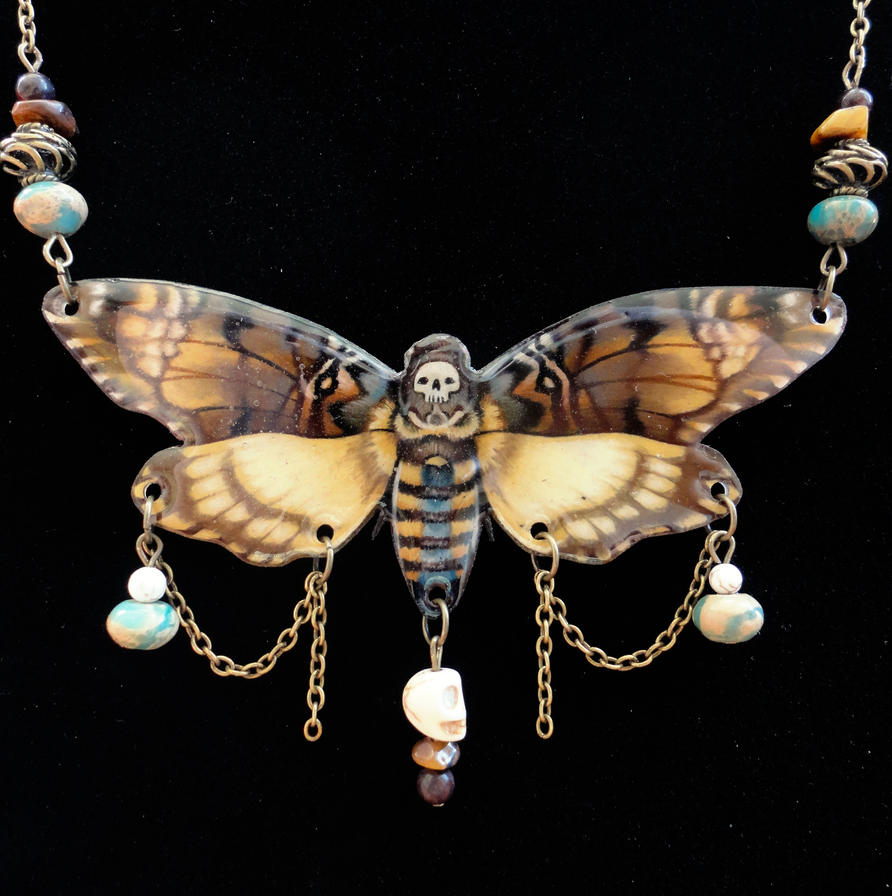 Deathhead Hawk Moth Necklace by Flos-Abysmi