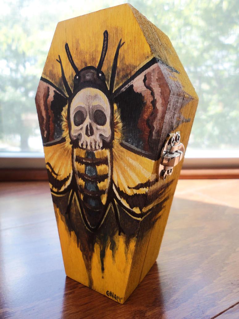 Death Head Hawk Moth Coffin Box by Flos-Abysmi
