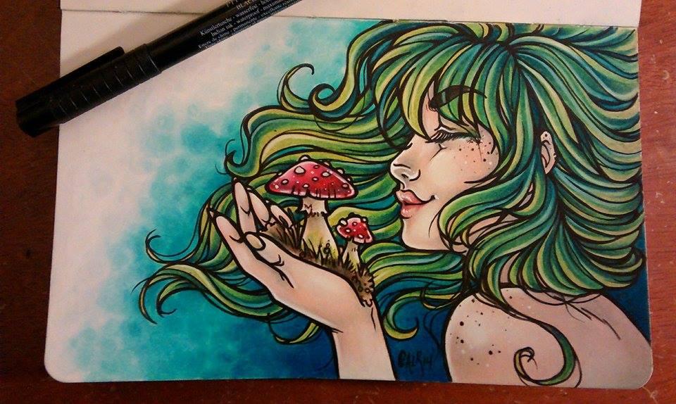 Prismacolor and Moleskine love by Flos-Abysmi