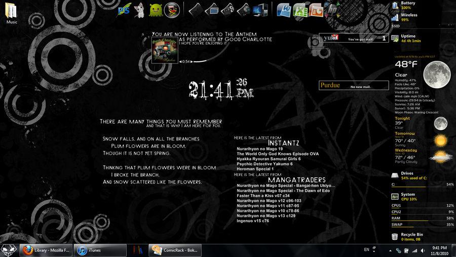 Grunge Black Desktop