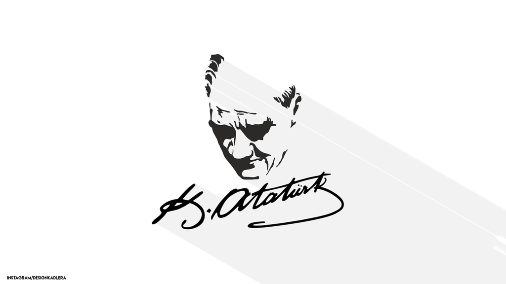 Mustafa Kemal Ataturk Imza Wallpaper by DesignKadlera on ...
