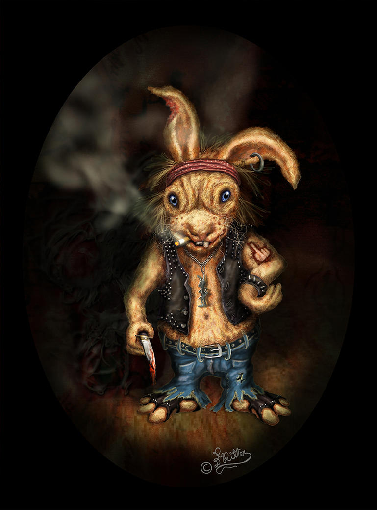 Rocker Rabbit_Digital Painting-Illustration by DagmarReneeRITTER