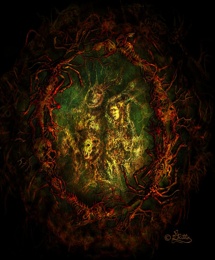 Rotten Family Tree (Digital Painting) by DagmarReneeRITTER