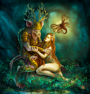 Satyr And Witch