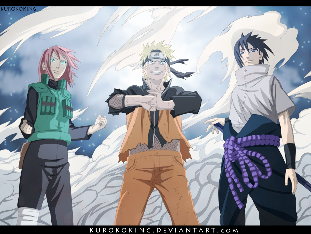 Naruto 632 Team 7 is back by KUROKOKING