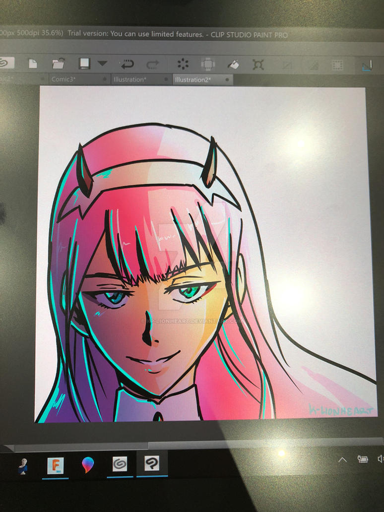 Zero Two - Darling in the Franxx doodle by KP-Lionheart